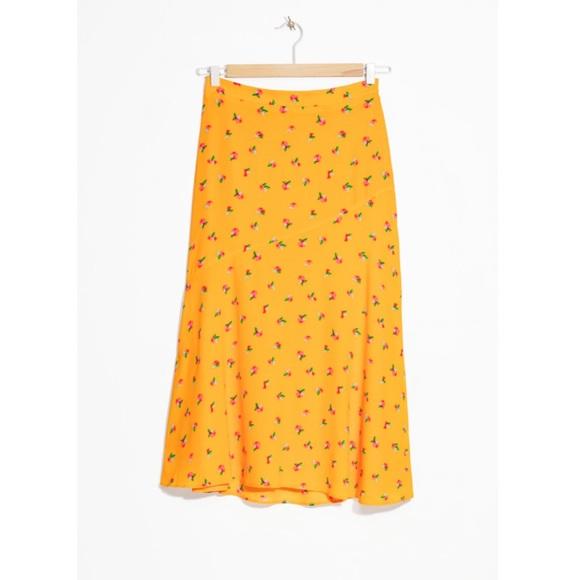 aa7fa9847 & Other Stories Skirts | Floral Print Asyetrical Midi Skirt | Poshmark